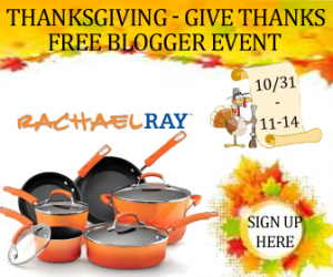 Blogger Sign Up : 10-pc Rachael Ray Cookware Set