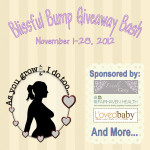 Blogger Sign Up : Blissful Bump Giveaway Bash