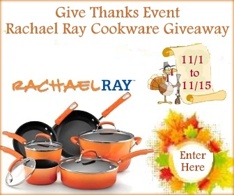 Enter : Rachael Ray 10pc-Cookware Set Giveaway