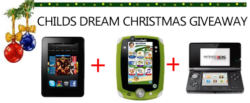 Enter : Child's Dream Christmas Giveaway