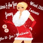 Enter : Big Christmas and New Year Giveaway $2500 Worth of Cash Prizes
