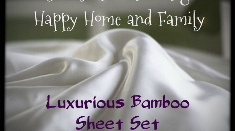 Free Blogger Event : Luxurious Bamboo Sheet Set Giveaway