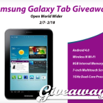 Enter : Samsung Galaxy Tab Giveaway