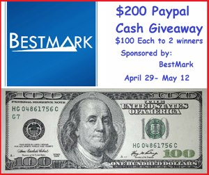 $200 PayPal Cash, Sponsored by BestMark - Button