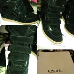 Review : Upere Black Suede Wedge Sneakers