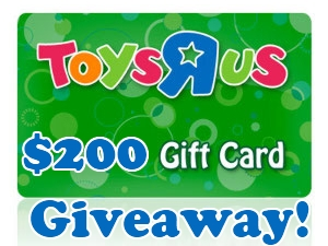 Enter : $200 Toys R Us Gift Card Giveaway!