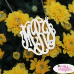 Pink Monogram Necklace 1