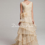 Wedding Dress With Ruffle Lace Beadwork