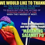 thank you for helping Haiyan victims