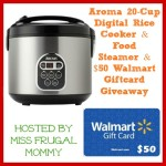 Enter : Aroma 20-Cup Digital Rice Cooker, Food Steamer and $50 Walmart GC Giveaway