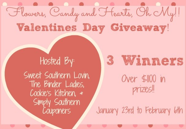 Enter : Valentine's Day Giveaway (Over $1100 In Prizes, 3 Winners)