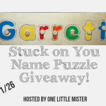 Enter : Stuck on You Name Puzzle Giveaway