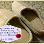 Nature's Sleep Closed Toe Memory Foam Slippers Giveaway #mamasnewlook