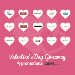Enter : PromotionalCodes.com Valentine's Day Sweepstakes – $1,500+ in Prizes!