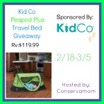 Enter : Peapod Plus Travel Bed Giveaway