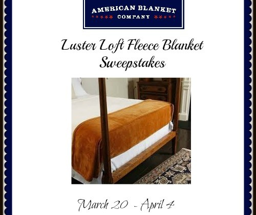 Enter : Luster Loft Fleece Blanket Sweepstakes