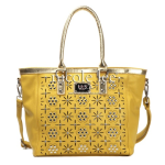 Yellow is Spring with Nicole Lee's Amber Floral Eyelet Shopper Review