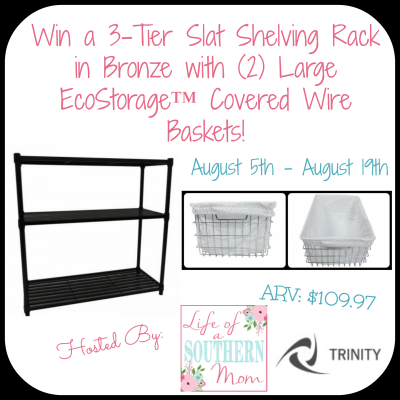 Enter : Trinity Storage Shelf Giveaway (ARV $109.97)