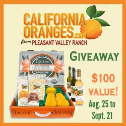 Enter : $100 Value California Oranges Giveaway