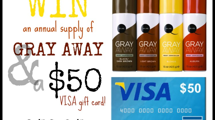 Enter : Gray Away Annual Supply and $50 Visa GC Giveaway