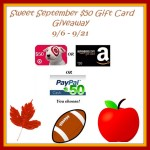 Enter : Sweet September $50 Gift Card Giveaway!