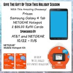 Enter : Samsung Tab 4 plus Netgear Mobile Hotspot Kit