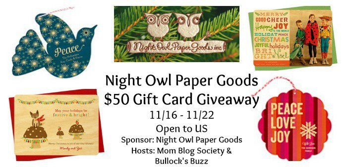 Enter : Night Owl Paper Goods Giveaway
