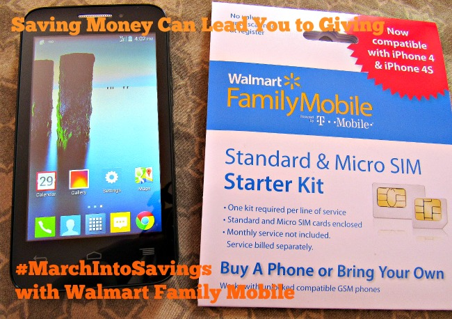 Saving Money Can Lead You to Giving #MarchIntoSavings with Walmart Family Mobile