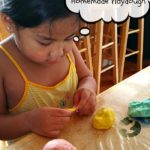 A Child's Creativity and Homemade Playdough