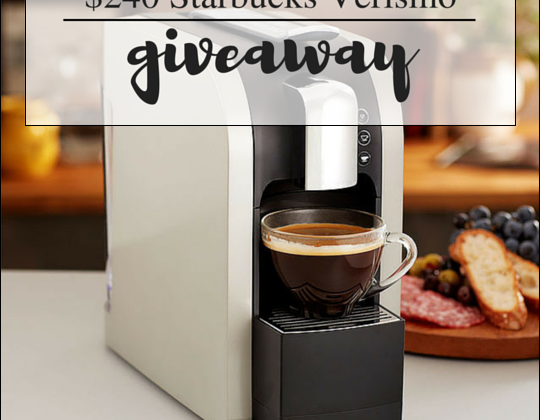 Enter : Starbucks Verismo Coffee Maker Giveaway